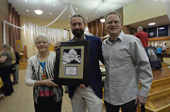 Joan, Francis and Paul Engler with the Bishop Dingman Peace Award