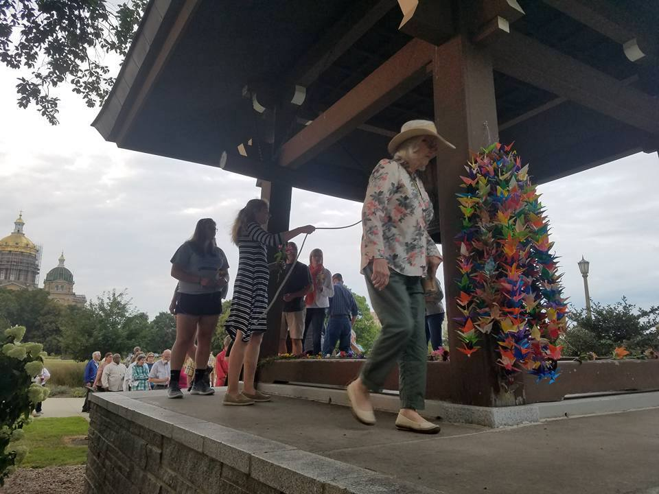2017 Hiroshima and Nagasaki Commemoration at the Japanese Bell on the Iowa State Capitol grounds